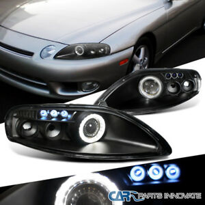 Jdm Black 92 99 For Sc300 Sc400 Led Projector Headlights W Halo Left right