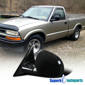 Chevy 94 98 Blazer 94 97 S10 94 98 Jimmy Black Manual Side Mirror Driver Left