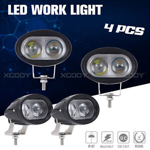 4x 4inch 20w Led Work Light Bar Pods Spot Beam Offroad Car Suv Tractor Lamps Us