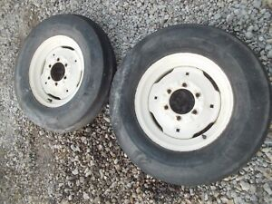 Farmall 504 Utility Tractor Rims 6 50 X 16 6ply Front Tires Ih 460 560