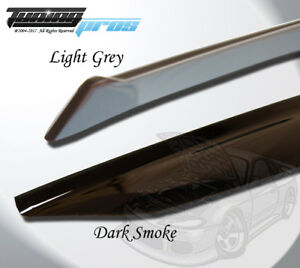 Window Visor Sun Roof 5pcs Light Grey Out Channel For Dodge Charger 2011 2016