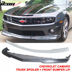 Fits 10 13 Chevy Camaro V8 Ss Front Bumper Lip Abs Rear Trunk