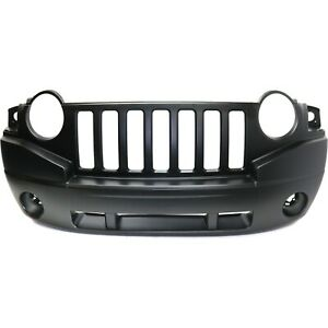 Front Bumper Cover For 2007 2010 Jeep Compass W Fog Lamp Holes Primed