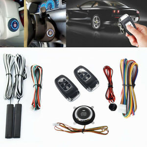 Universal Car Remote Control Ignition Engine Push Passive Keyless Entry Button