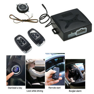 Car Keyless Entry Engine Start Alarm System Push Button Remote Starter System