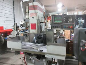 Tree Journeyman 350 3 Axis Cnc Milling Machine Bridgeport Dynapath Delta 40