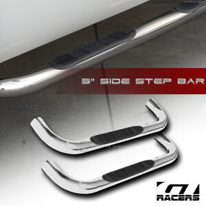 For 1999 2018 Silverado Sierra Regular Cab 3 Chrome Side Step Nerf Bars Boards