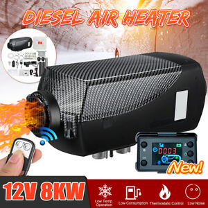 12v 8kw Diesel Air Heater Lcd Thermostat 15l Tank t Pipe For Truck Motorhome