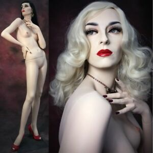 Rare Female Mannequin Rootstein Full Size Realistic Lisa Glass Eyes Dita
