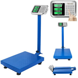 660lbs X 0 1lb 300kg Digital Floor Platform Scale Postal Shipping Weight Lcd