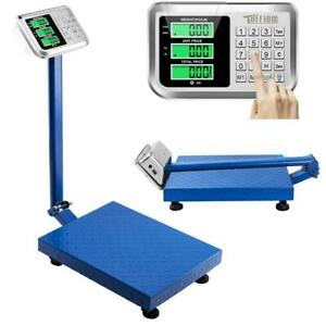 660 Lb Lcd Weight Computing Scale Digital Floor Platform Warehouse Shipping Shop