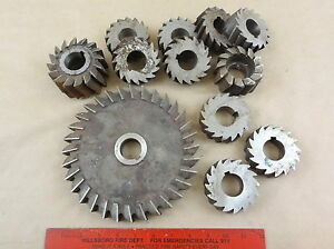 Lot Of 12 Machinist Cutters Lathe Milling Mill Drill Tools 1 1 4 Interior Bore