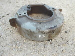 Mccormick Farmall F12 F14 Tractor Ih Engine Motor Flywheel Cover Housing