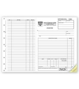 250 Work Orders Side stub Large Carbonless Forms Nebs deluxe No 6545 2 Part
