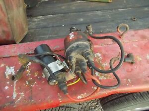 Case Vac Tractor Good Working Engine Motor Distributor Drive Assembly