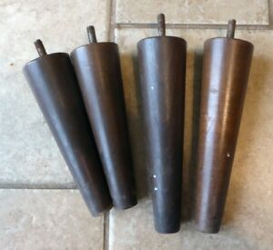 Set Of 4 Mid Century Modern Wood End Table Legs