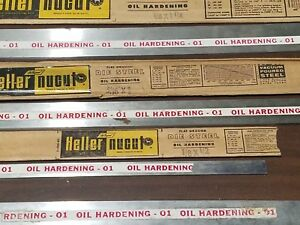 4 Pieces Heller Nucut Flat Ground Die Steel Knife Making Forging Oil Hardening