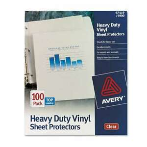 Avery Top load Vinyl Sheet Protectors Heavy Gauge Letter Clea 077711739000