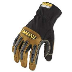 Ironclad Ranchworx Leather Gloves Black tan Medium 696511814931