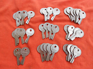 Lot Of 37 Excelsior Brand Luggage Trunk Suitcase Key Blanks Locksmith