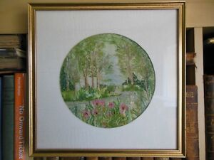 Summer Machine Embroidery By Pauline Houseago Framed Glazed Needlecraft