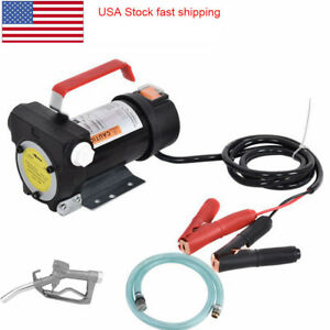 Portable 12v Electric Diesel Oil And Fuel Transfer Extractor Pump Motor Dcfd40a