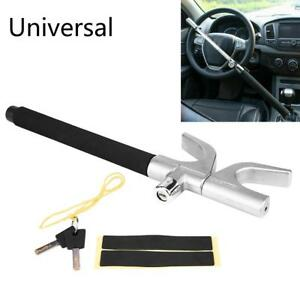 Auto Car Steering Wheel Anti theft Device Security Lock Metal Clamp Cover 2 Keys