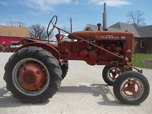 Farmall 100 Tractor W Ih Rockshaft Arms Hydraulics Straight Tin Chrome Emblems