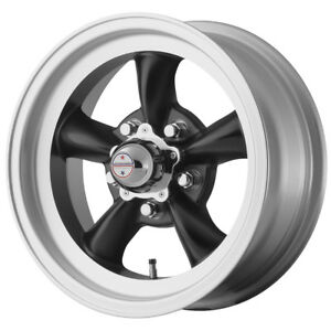 4 New 14 Inch 14x6 Ar Vn105 Torq Thrust D 5x4 75 2mm Satin Black Wheels Rims