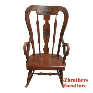 Ethan Allen Balloon Back Homestead Nutmeg Rocker Rocking Chair