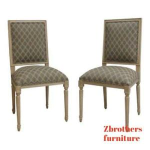 Pair Ethan Allen Swedish Home Dining Room Desk Side Chair