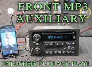 03 04 05 Chevy Gm Gmc Truck Suv Radio Cd Disc Cassette Player Mp3 Ipod Auxiliary