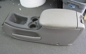 00 02 Ford Expedition F150 Center Console Lincoln Navigator Cup Holder Grey