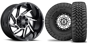 20x12 51 Vision Prowler Wheels 33 Toyo Mt Tires Package 5x4 5 Jeep Wrangler Tj