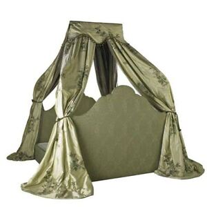 One Of A Kind Muriel Brandolini Draped Canopy King Size Bed From New York Estate