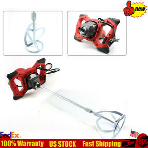 Electric 1500w Mortar Mixer Variable Speed Concrete Drywall Mud Mixer 110v Usa