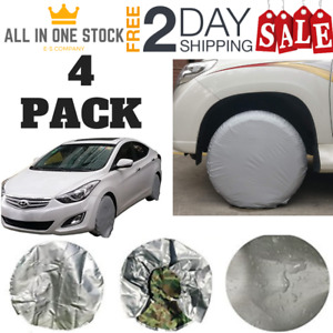 Set Of 4 Tire Wheel Covers 25 28 Inch For Rvs Truck Car Waterproof Sun Protector