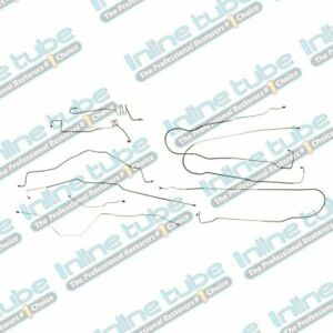 1994 96 Ford Truck F150 Power Disc Short Bed 2wd Complete Brake Line Set Kit Ss