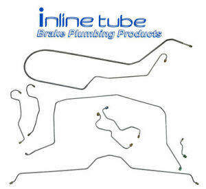 1969 Chevrolet Chevy Corvette Complete Power Brake Line Set Kit Tubes Stainless