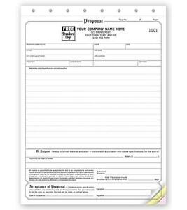 500 Business Proposal Acceptance Forms 3 Part Nebs Deluxe No 118