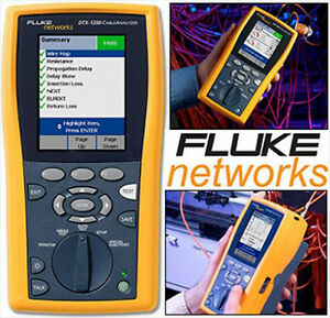 Fluke Dtx 1200 Cable Analyzer W Smart Remote Version 2 7700 Calibration 2015