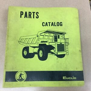 Euclid 23tdt Truck 122w Trailer Parts Manual Book Catalog Guide Quarry Haul Dump