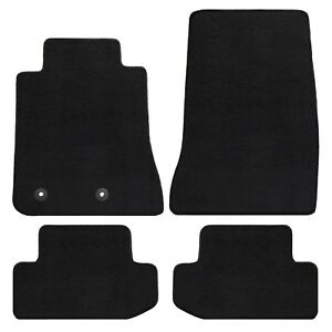 2015 2019 Ford Mustang Heavy Plush Lloyd Floor Mats 4pc Set Black No Logos