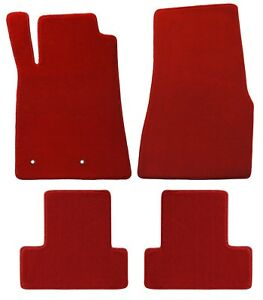 2005 2010 Ford Mustang Heavy Plush Lloyd Floor Mats 4pc Set Red No Logos