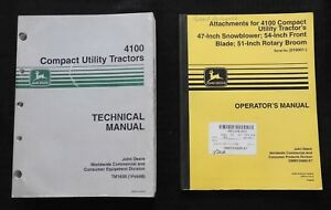 Genuine John Deere 4100 Compact Utility Tractor Technical Service Manual Extra