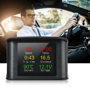 Universal Digital Car Gps Speedometer Hud Head Up Display Mph Km Overspeed Alarm