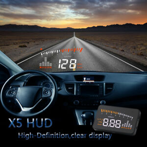 Car Head Up Display A1000 Hud Projector Speedometer Mph Km H Speed Warning Chh