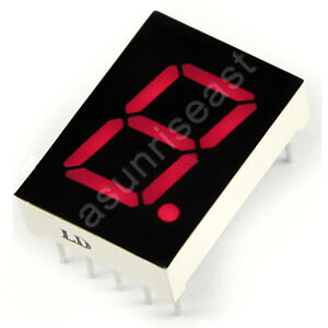 10 Common Anode Red 7 Segment 5 Led Digit Display Digitron 1 Bit Wholesale