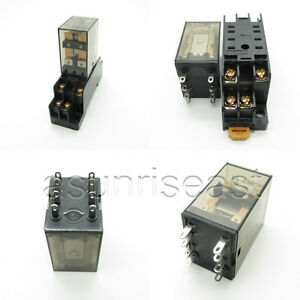 10 X Power Relay Coil Ac220v Dpdt 5a My2nj Hh52p Hhc68b 2z Socket Wholesale