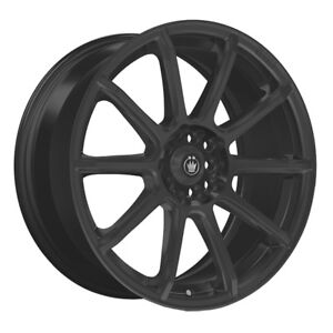 4 New 14 Inch Konig 45b Control 14x6 4x100 4x108 108 Black Wheels Rims